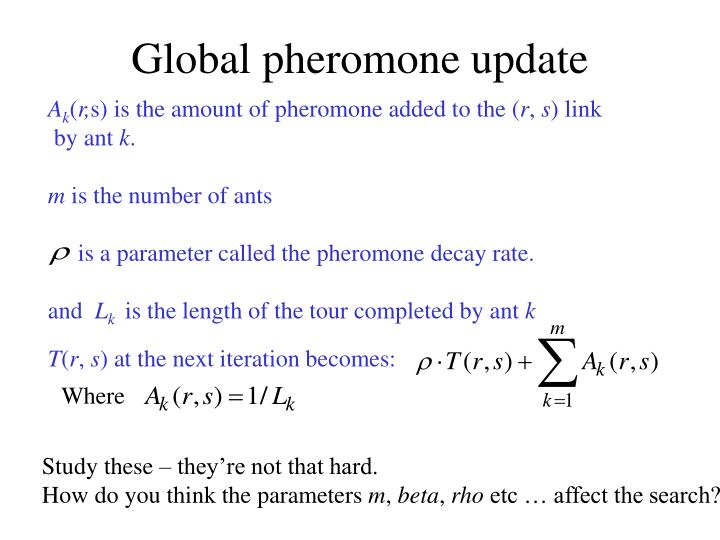 Global pheromone update