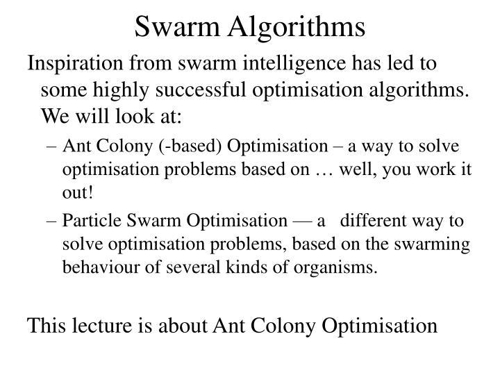 Swarm Algorithms
