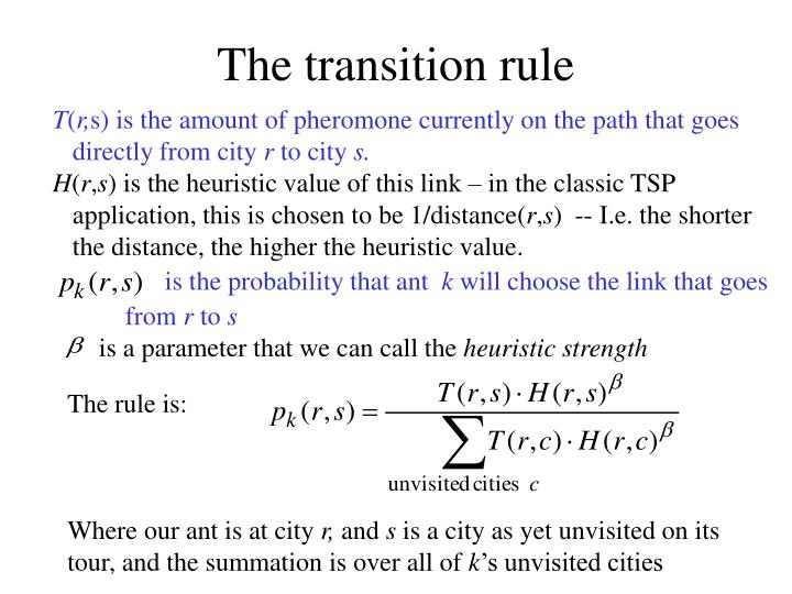 The transition rule