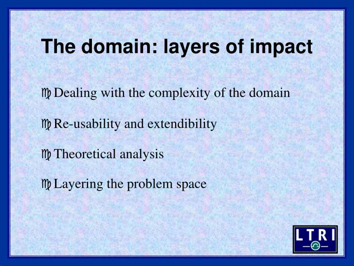 The domain: layers of impact