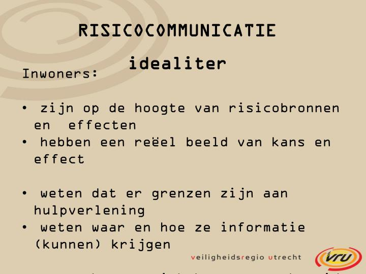 RISICOCOMMUNICATIE