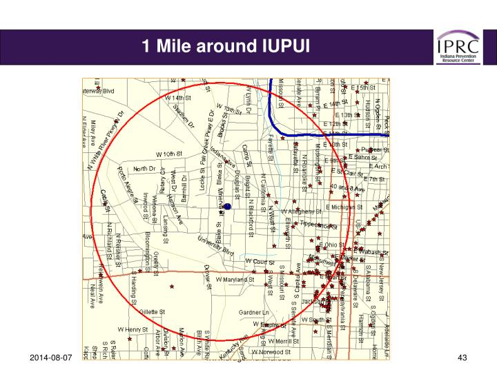 1 Mile around IUPUI