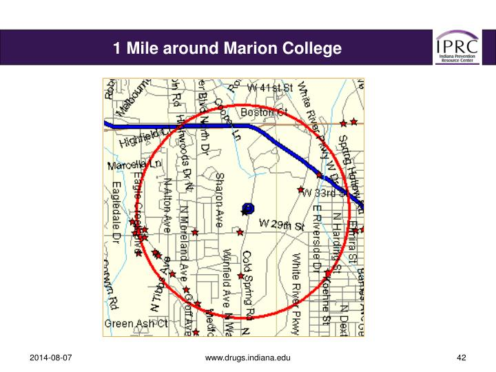 1 Mile around Marion College