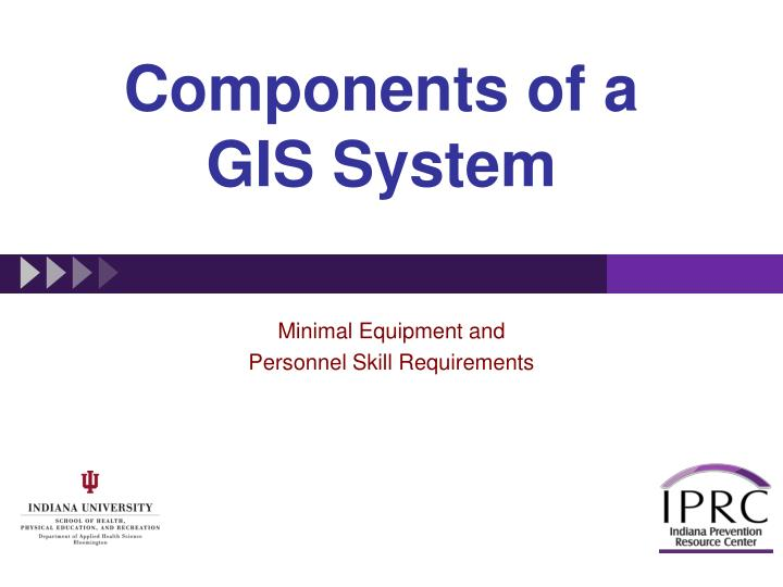 Components of a GIS System