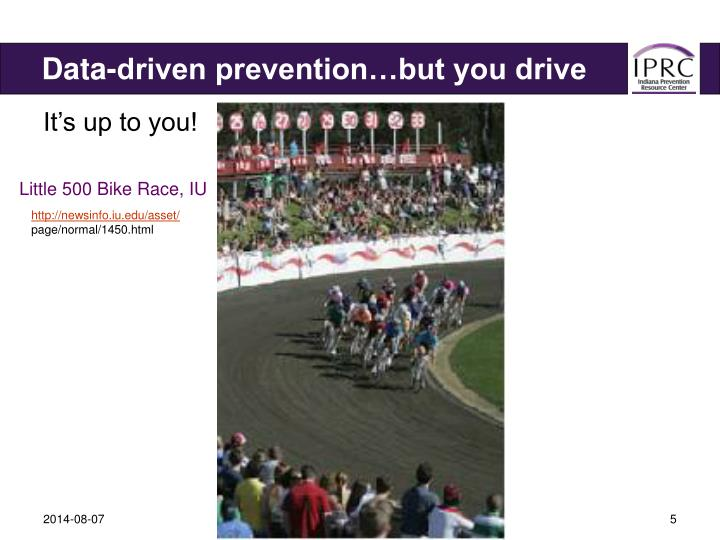 Data-driven prevention…but you drive