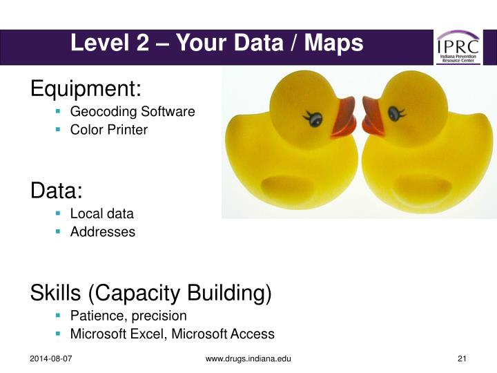Level 2 – Your Data / Maps