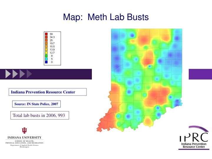 Map:  Meth Lab Busts