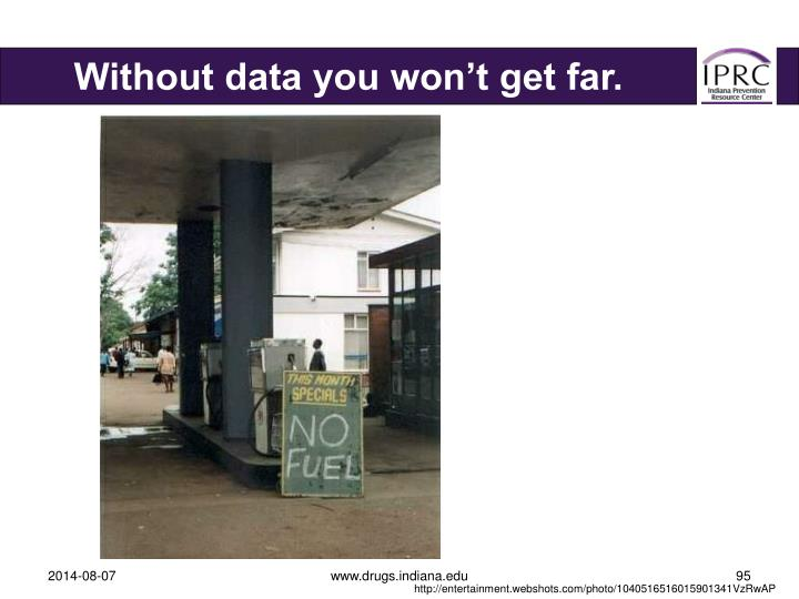 Without data you won't get far.