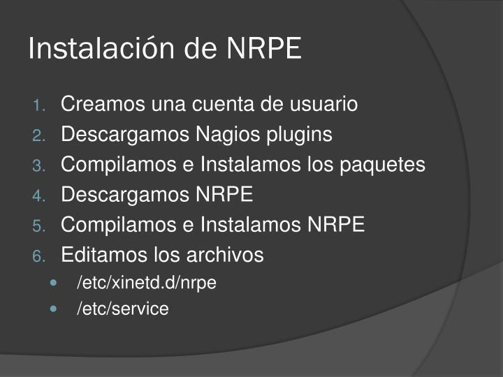 Instalación de NRPE
