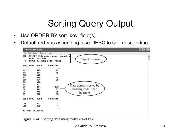 Sorting Query Output