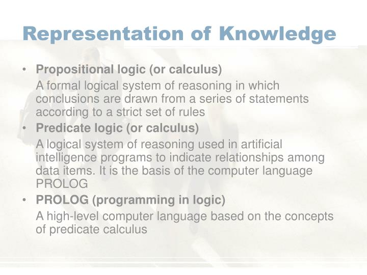 Representation of Knowledge