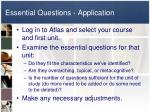 essential questions application
