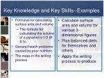 key knowledge and key skills examples