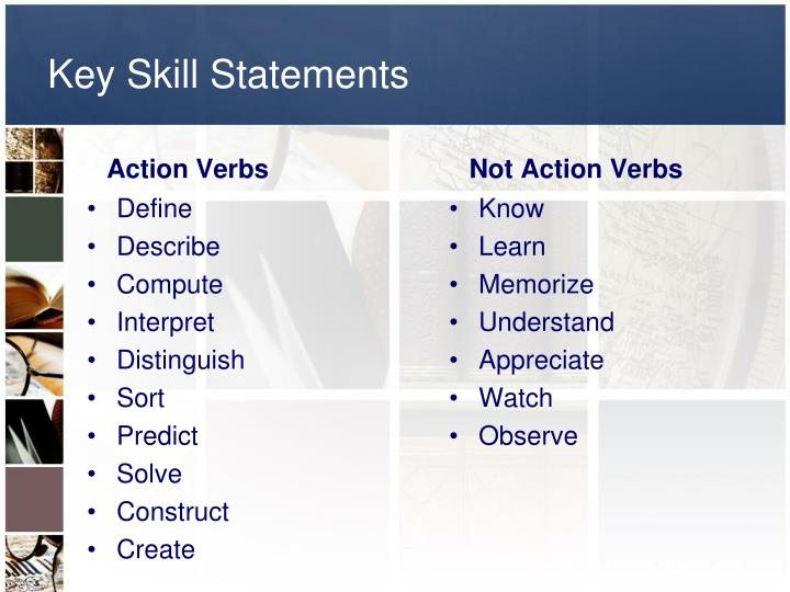Key Skill Statements