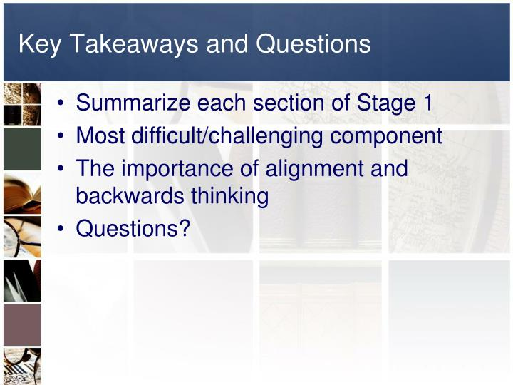 Key Takeaways and Questions
