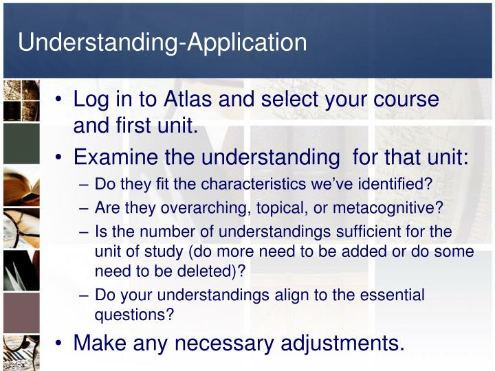Understanding-Application