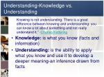 understanding knowledge vs understanding