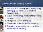 understandings identify activity