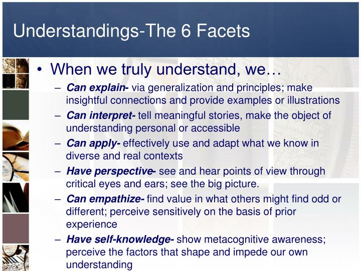 Understandings-The 6 Facets