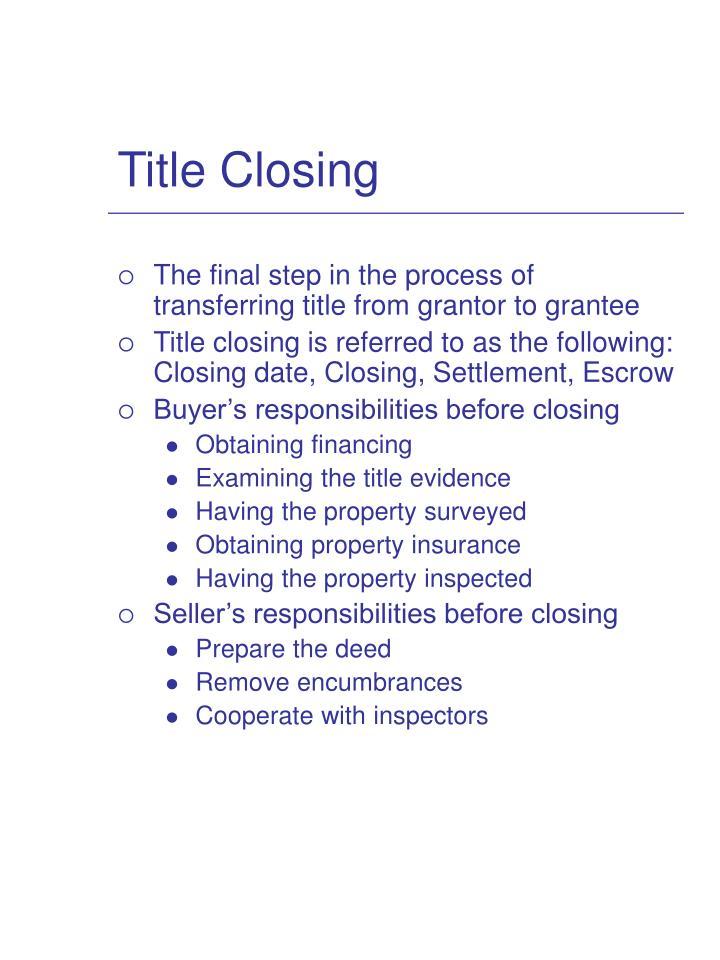 Title Closing