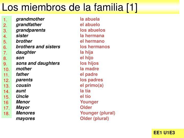 Los miembros de la familia [1]