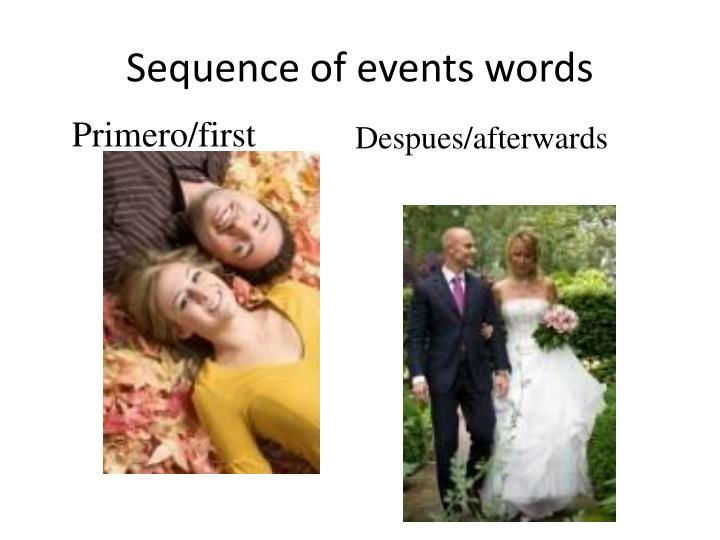 Sequence of events words