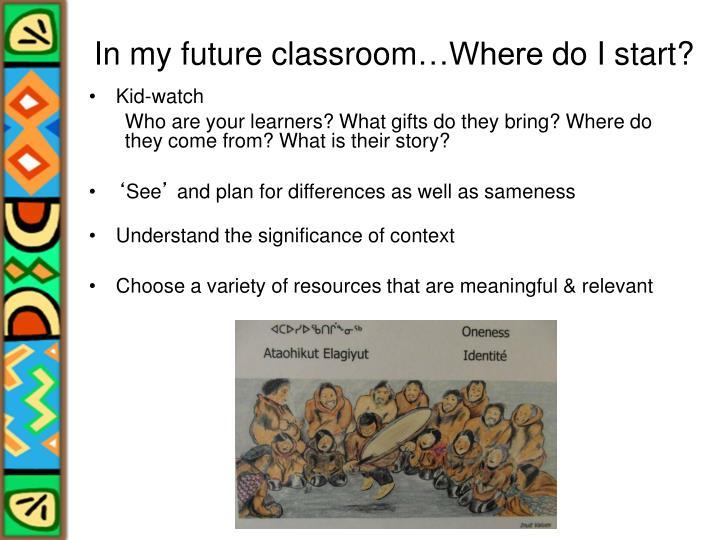 In my future classroom