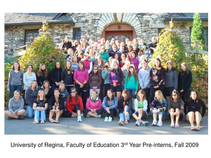 University of Regina, Faculty of Education 3