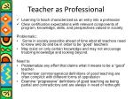 teacher as professional