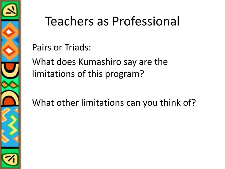 Teachers as