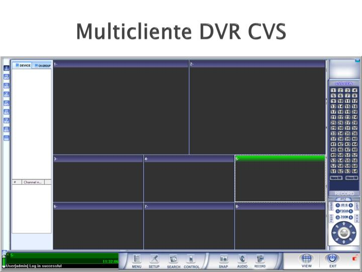 Multicliente DVR CVS
