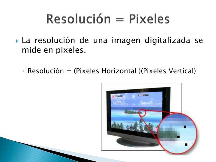 Resolución = Pixeles