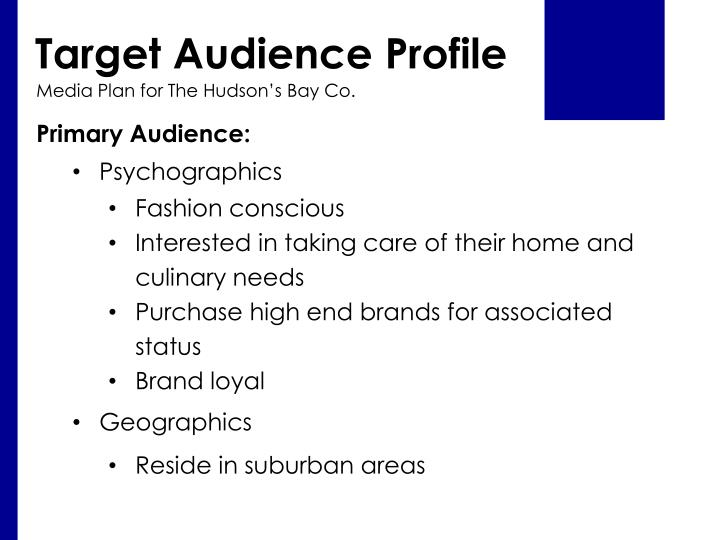 Target Audience Profile
