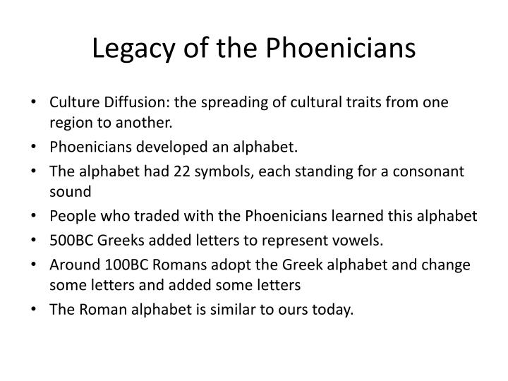 Legacy of the Phoenicians