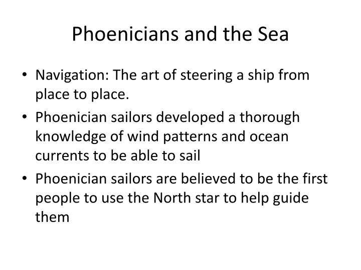 Phoenicians and the Sea