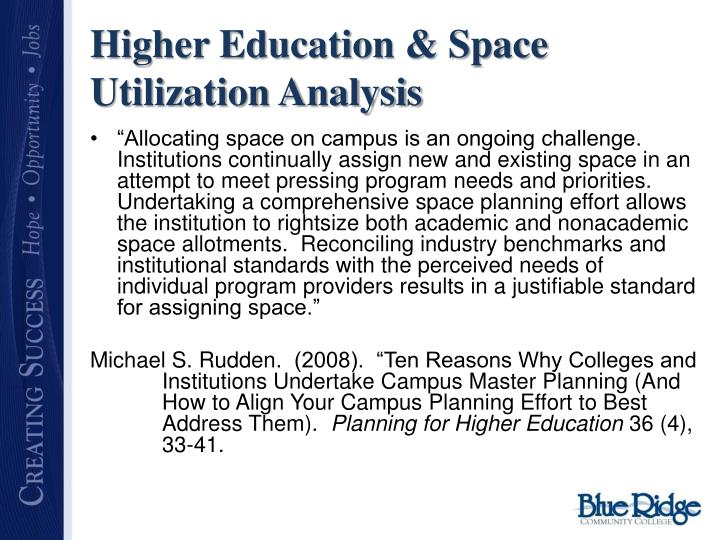 Higher Education & Space Utilization Analysis