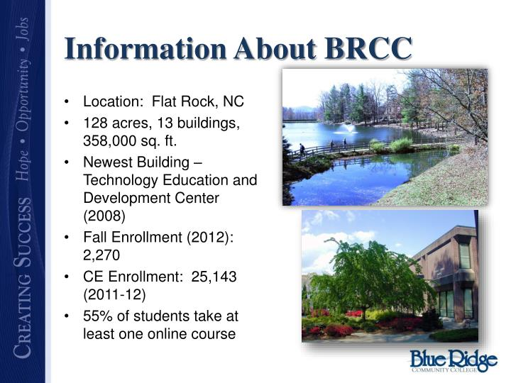 Information about brcc