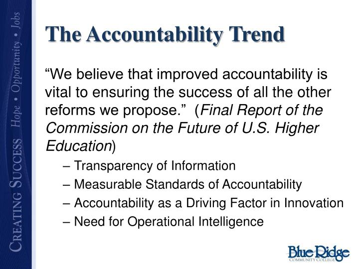 The Accountability Trend