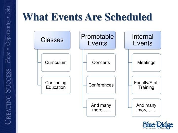What Events Are Scheduled