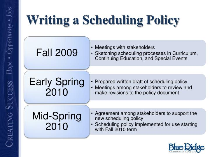 Writing a Scheduling Policy