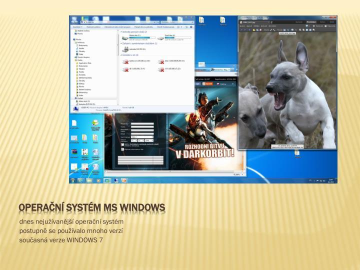 Operační systém MS Windows