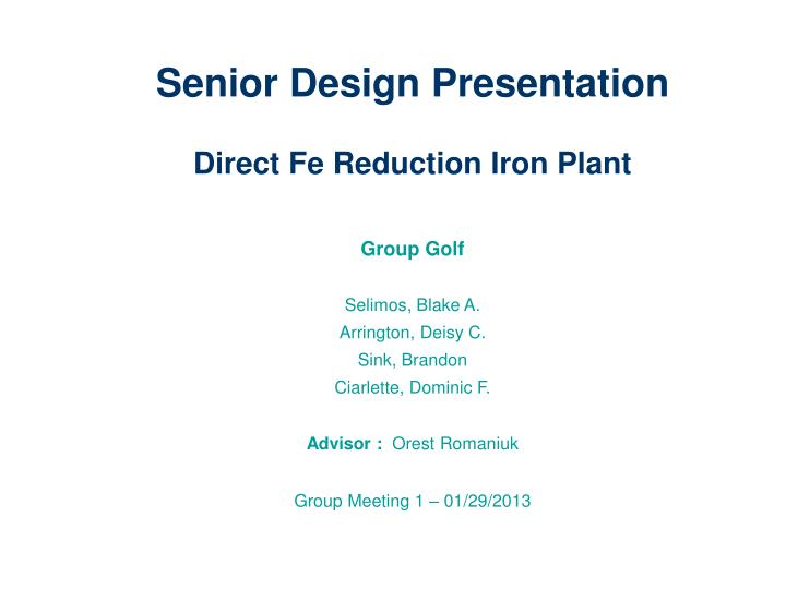 Senior Design Presentation