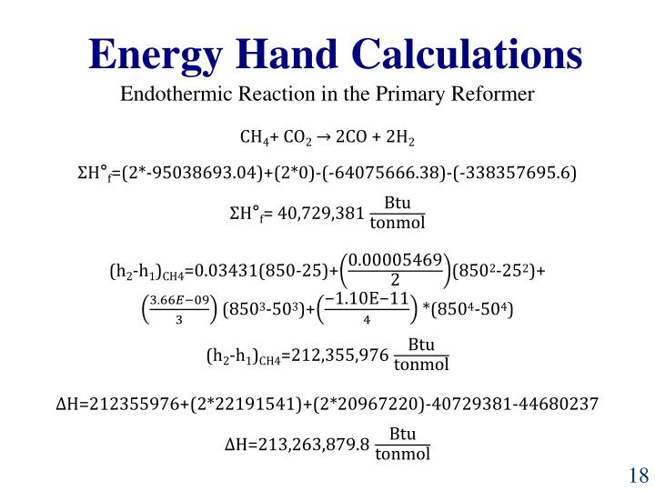 Energy Hand Calculations
