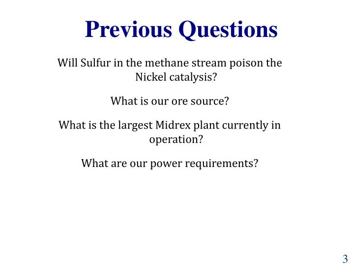 Previous Questions