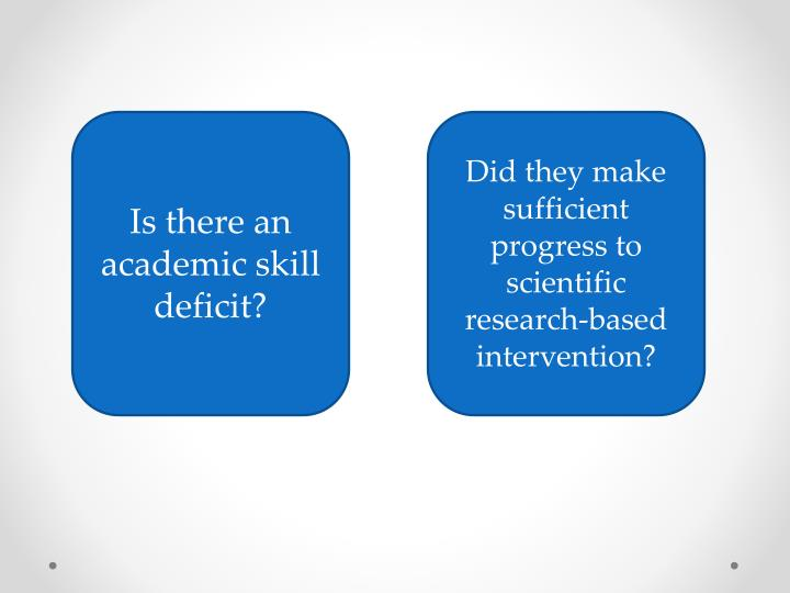 Is there an academic skill deficit?