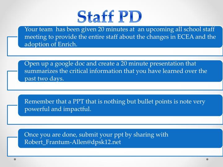 Staff PD