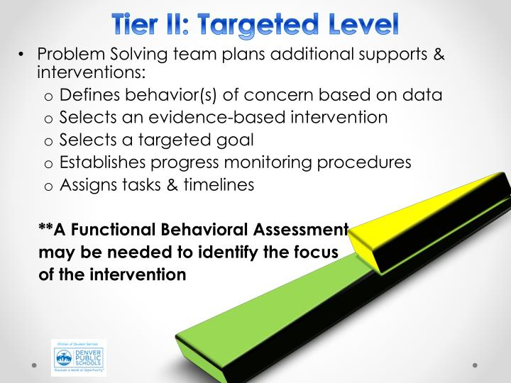 Tier II: Targeted Level