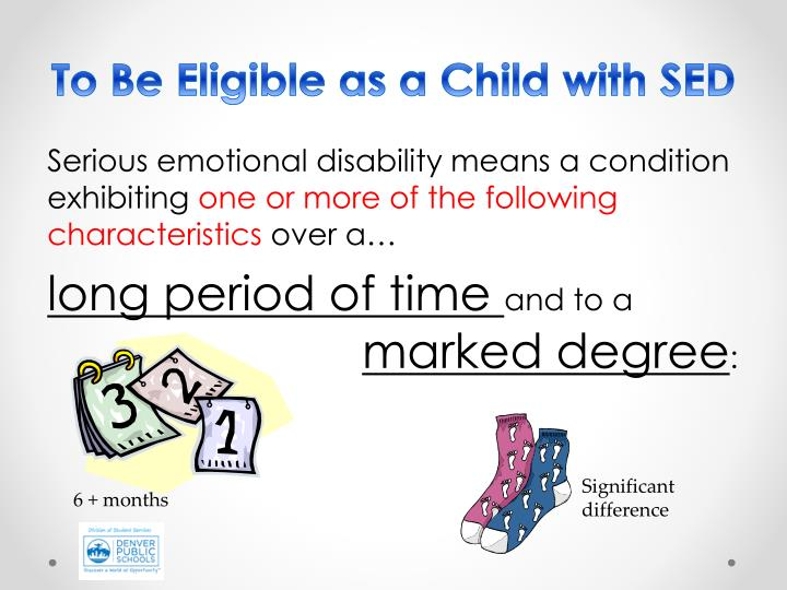 To Be Eligible as a Child with SED
