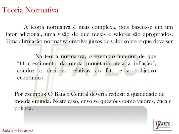 Teoria Normativa