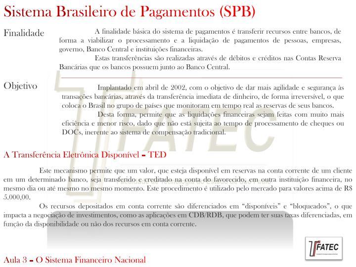 Sistema Brasileiro de Pagamentos (